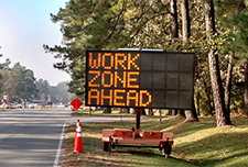 Work zone traffic sign