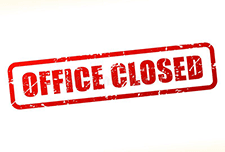 office closed sign