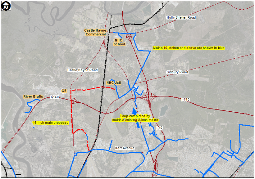 Map of Northern Water Mains project